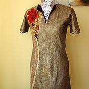 Одежда ручной работы. Ярмарка Мастеров - ручная работа Валяное коктейльное платье 2 в 1. Handmade.