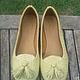Обувь ручной работы. Заказать Лоферы желтые. Paradise Bali. Ярмарка Мастеров. Лоферы из питона, балетки кожаные, кожа питона