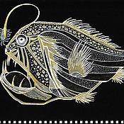 Картины и панно handmade. Livemaster - original item Pictures: Fish-angler. Handmade.