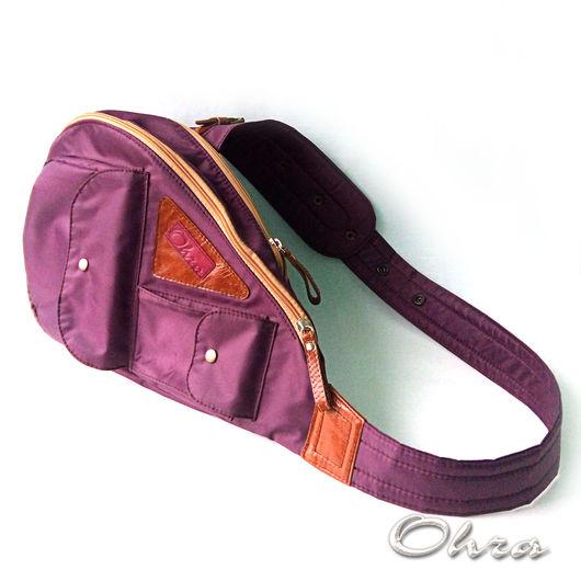 """Рюкзаки ручной работы. Ярмарка Мастеров - ручная работа. Купить Сумка-рюкзак """"Аксай"""". Handmade. Бордовый, сумка текстильная"""