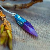 Украшения ручной работы. Ярмарка Мастеров - ручная работа Кулон из Стабилизированного дерева с Эпоксидной смолой. Handmade.