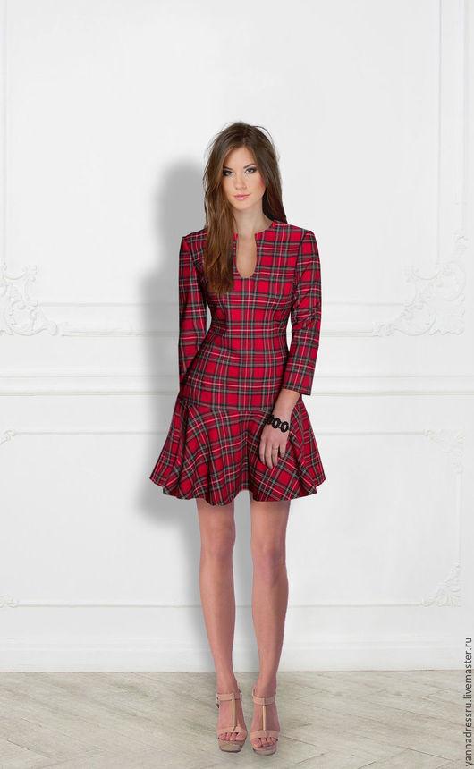 """Платья ручной работы. Ярмарка Мастеров - ручная работа. Купить Платье  """"Square Garden"""". Handmade. Ярко-красный, платье летнее"""