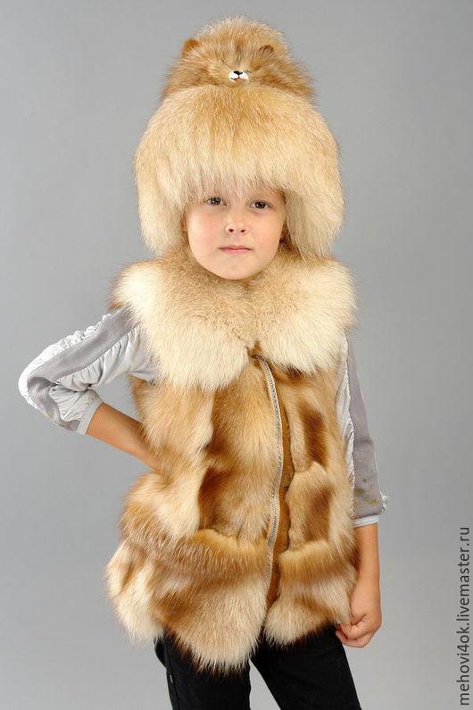 Одежда для девочек, ручной работы. Ярмарка Мастеров - ручная работа. Купить Меховой жилет для девочки, жилет из меха, лиса, чернобурка, песец. Handmade.