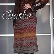 Одежда ручной работы. Ярмарка Мастеров - ручная работа Вязаная юбка с кельтским орнаментом. Handmade.