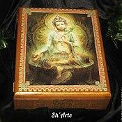 Для дома и интерьера handmade. Livemaster - original item Big box of Green Tara with ornament. Handmade.