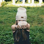 Шапки ручной работы. Ярмарка Мастеров - ручная работа Стильная шапочка с отворотом.. Handmade.