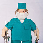 Куклы и игрушки ручной работы. Ярмарка Мастеров - ручная работа Медицинские работники. Handmade.