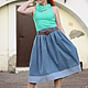 Юбки ручной работы. Ярмарка Мастеров - ручная работа. Купить Джинсовая юбка 60-е. Handmade. Синий, ручная работа