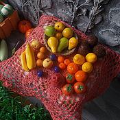 Мини фигурки и статуэтки ручной работы. Ярмарка Мастеров - ручная работа Набор кукольной миниатюры из пластики,овощи-фрукты, масштаб 1:12. Handmade.