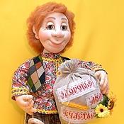 Куклы и игрушки ручной работы. Ярмарка Мастеров - ручная работа Домовой Митяй. Кукла в технике  скульптурный текстиль. Handmade.