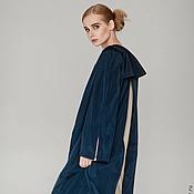 Одежда ручной работы. Ярмарка Мастеров - ручная работа Плащ темно-синий. Handmade.