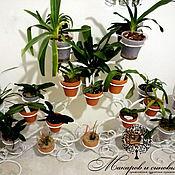 Цветы и флористика handmade. Livemaster - original item Wrought iron stand for 40 Orchid pots. Handmade.