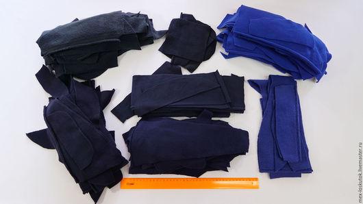 Шитье ручной работы. Ярмарка Мастеров - ручная работа. Купить Набор флиса №3 (кусочки синего флиса разного оттенка). Handmade.