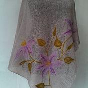"""Одежда ручной работы. Ярмарка Мастеров - ручная работа Пончо""""Цветок клематиса"""". Handmade."""