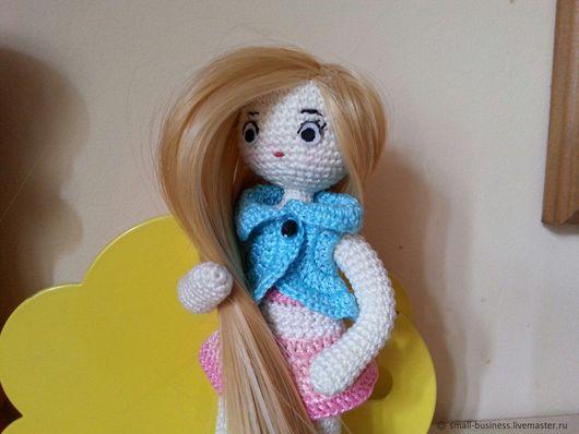 Человечки ручной работы. Ярмарка Мастеров - ручная работа. Купить Игровая куколка амигуруми. Handmade. Бежевый, амигуруми, куколка, кукла