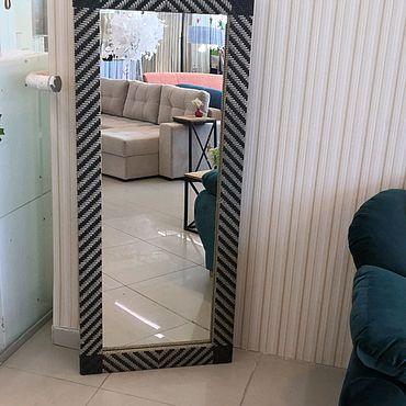 Для дома и интерьера ручной работы. Ярмарка Мастеров - ручная работа Зеркало в плетеной рамке. Handmade.