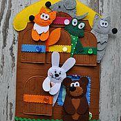 """Мягкие игрушки ручной работы. Ярмарка Мастеров - ручная работа Сказка """"Теремок"""" из фетра. Handmade."""
