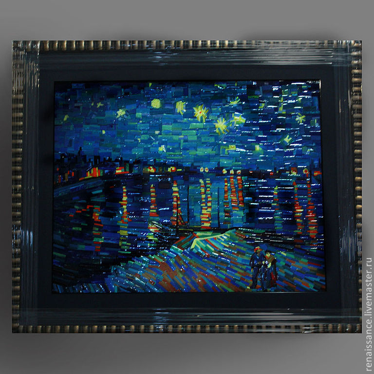 """Купить Ван Гог """"Звездная ночь над Роной (копия полотна в ... Звездная Ночь над Роной Ван Гог"""