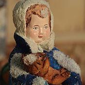 """Куклы и игрушки ручной работы. Ярмарка Мастеров - ручная работа Продана. Ватная игрушка """"Девочка Маруся с мишкой"""". Handmade."""
