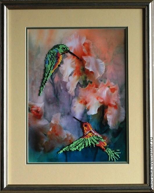"""Животные ручной работы. Ярмарка Мастеров - ручная работа. Купить Картина """"Колибри"""". Бисер. Handmade. Картина, Картины и панно, колибри"""