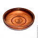 Cedar plate (dish) 21 cm. T13, Plates, Novokuznetsk,  Фото №1