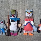 Куклы и игрушки ручной работы. Ярмарка Мастеров - ручная работа Кошкин дом- фетровая сказка. Handmade.