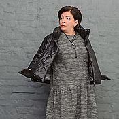 Одежда handmade. Livemaster - original item Jacket quilted short black. Art.1224. Handmade.