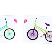 Канцелярские товары ручной работы. Ярмарка Мастеров - ручная работа Обложка для карточек, проездного, студака Bike`s love. Handmade.