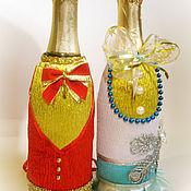 Подарки к праздникам ручной работы. Ярмарка Мастеров - ручная работа Корсеты новогодние на шампанское. Handmade.