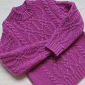 """Работы для детей, ручной работы. Ярмарка Мастеров - ручная работа Кашемировый свитер для девочки """"Pink"""". Handmade."""