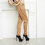 Одежда ручной работы. Ярмарка Мастеров - ручная работа брюки из костюмной ткани. Handmade.