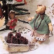 Куклы и игрушки ручной работы. Ярмарка Мастеров - ручная работа Мишка с саночками.. Handmade.