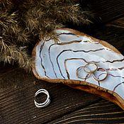 Свадебный салон handmade. Livemaster - original item Handmade ceramic shell for rings with real gold. Handmade.
