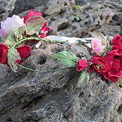 Украшения ручной работы. Ярмарка Мастеров - ручная работа Венок из шелковых роз. Handmade.