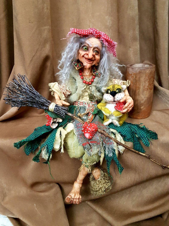 Коллекционные куклы ручной работы. Ярмарка Мастеров - ручная работа. Купить Баба Яга. Оберег. Handmade. Подарок мужчине
