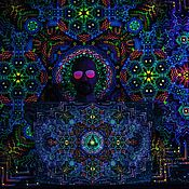 Субкультуры handmade. Livemaster - original item Shamanic glowing picture of the Fractal Depths. Handmade.