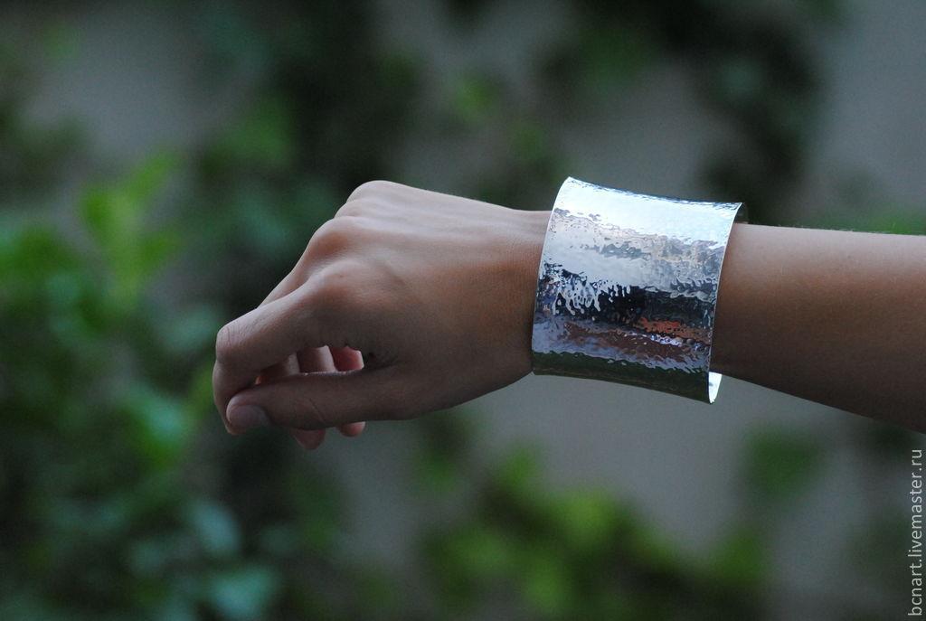Bracelets handmade. Livemaster - handmade. Buy Silver cuff.Cuff, silver cuff, silver 925
