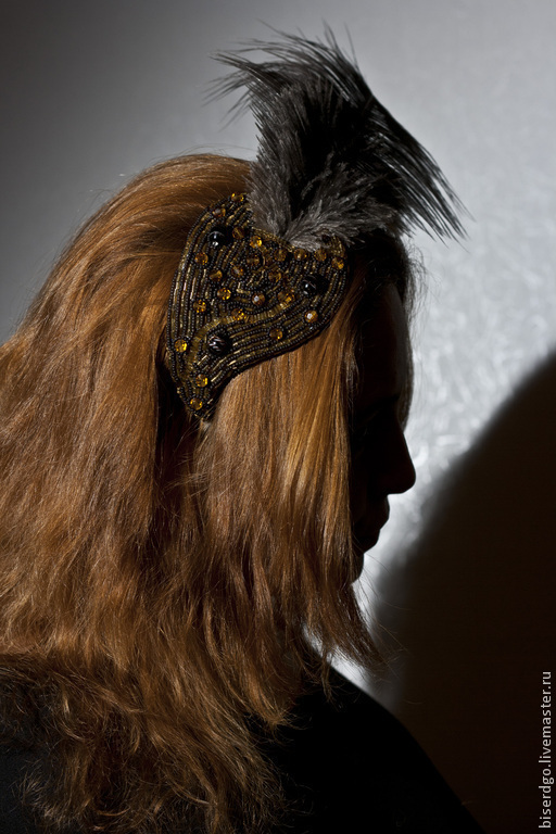 """Шляпы ручной работы. Ярмарка Мастеров - ручная работа. Купить Шляпка """"Чудо в перьях"""".. Handmade. Коричневый, винтажный стиль"""