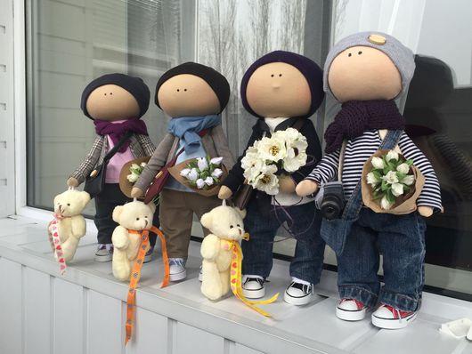 Куклы тыквоголовки ручной работы. Ярмарка Мастеров - ручная работа. Купить Интерьерная текстильная куколка. Handmade. Кукла мальчик