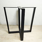"""Столы ручной работы. Ярмарка Мастеров - ручная работа Подстолье """"Крест"""" V-типа для спилов и слэбов. Handmade."""