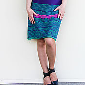 Одежда ручной работы. Ярмарка Мастеров - ручная работа Стильная вязаная юбка. Handmade.