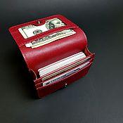 handmade. Livemaster - original item Business card holder lingonberry. Handmade.