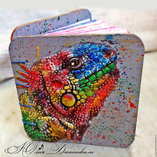 Деревянный блокнот, блокнот ручной работы, купить блокнот, блокнот купить, изготовление блокнотов, блокнот с нуля, полимерная глина, красивый блокнот, авторский блокнот, хамелеон, разноцветный блокнот