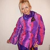 Одежда ручной работы. Ярмарка Мастеров - ручная работа куртка-жакет-  Сиреневая радуга. Handmade.