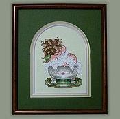 Для дома и интерьера handmade. Livemaster - original item Cross stitch Bubble bath. Handmade.