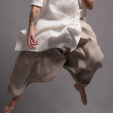 Одежда ручной работы. Ярмарка Мастеров - ручная работа Льняные штаны-афгани для мужчин - 31 расцветка. Handmade.