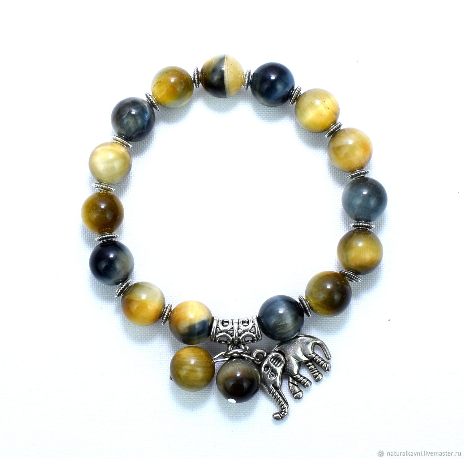 Falcon and cat's eye bracelet with pendant, Bead bracelet, Moscow,  Фото №1