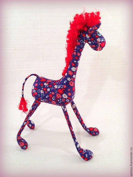 Игрушки животные, ручной работы. Ярмарка Мастеров - ручная работа. Купить Миниатюрный жираф :). Handmade. Разноцветный, забавный подарок