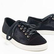 Обувь ручной работы. Ярмарка Мастеров - ручная работа Полукеды бархатные. Handmade.