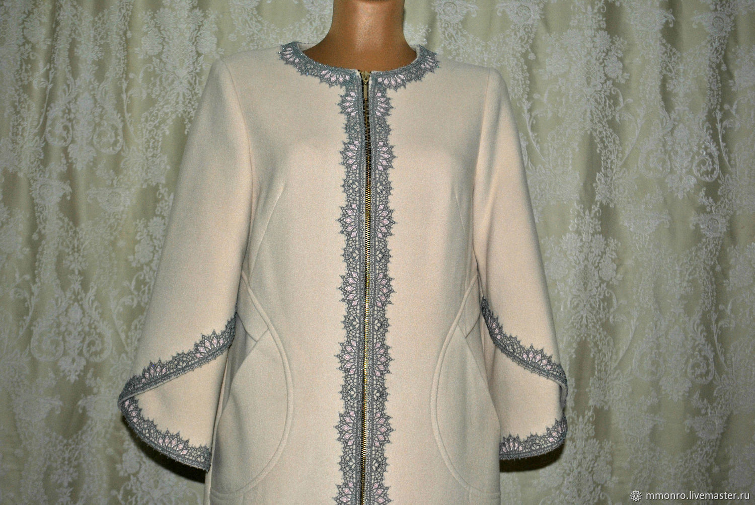 Outer Clothing handmade. Livemaster - handmade. Buy The delicate coat with lace and beads, the Swan Princess.